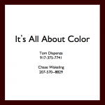 Tom Dispenza - It's All About Color